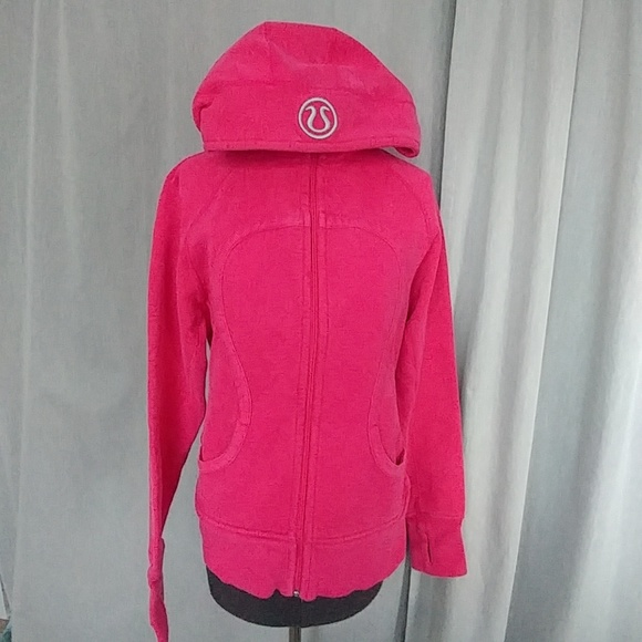 92400e0d7 lululemon athletica Tops - Lulu Lemon Pink Scuba Zip Up Hoodie Size 12